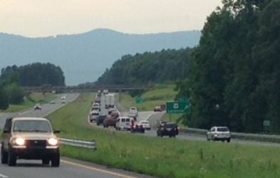 Traffic backed up on I-26 near mile marker 1 (FOX Carolina)