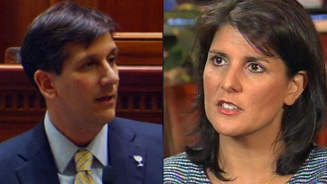 Vincent Sheheen and Nikki Haley (File: FOX Carolina)