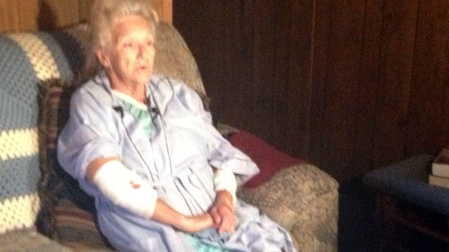 Joyce Rhoden is back home recovering from her injuries. (July 1, 2014/FOX Carolina)