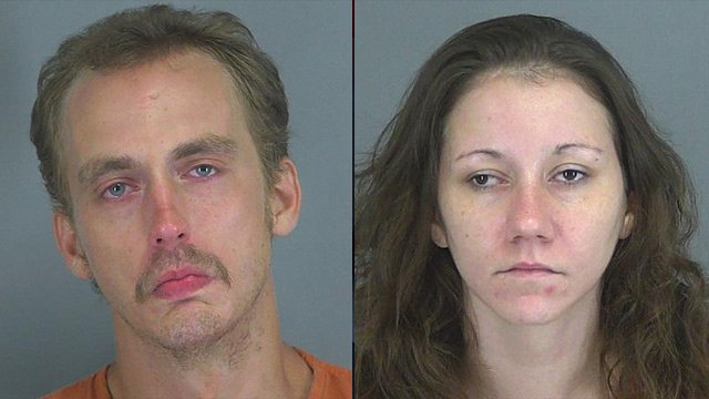 Christopher Knighton (L) and Ashley Underwood. (Source: Spartanburg Co. Detention Center)