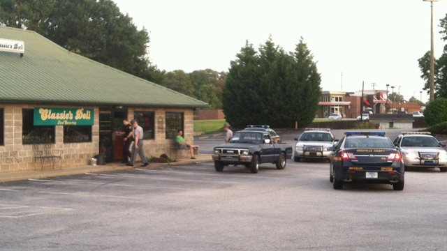 Deputies say the driver of the Isuzu truck intentionally struck the deli. (July 2, 2014/FOX Carolina)