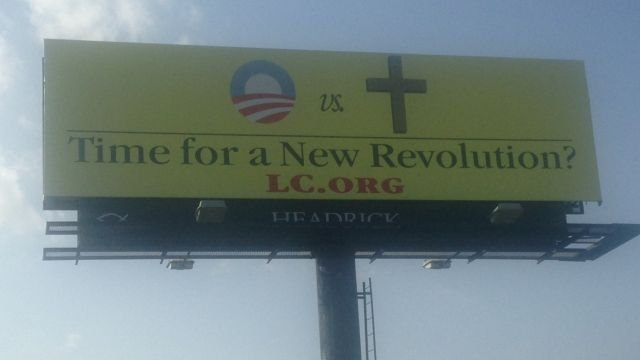 The billboard displayed along Southport Road in Spartanburg Co. (July 2, 2014/FO XCarolina)