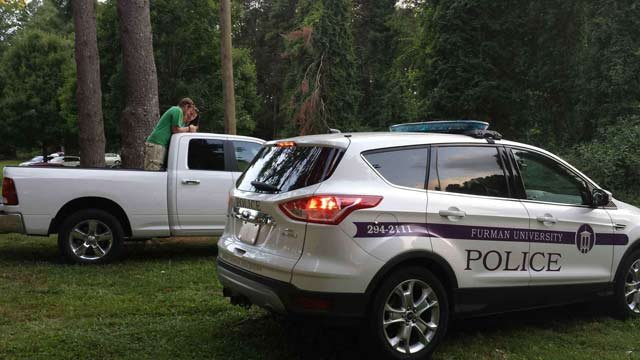Furman police responded to the scene. (Source: iWitness)