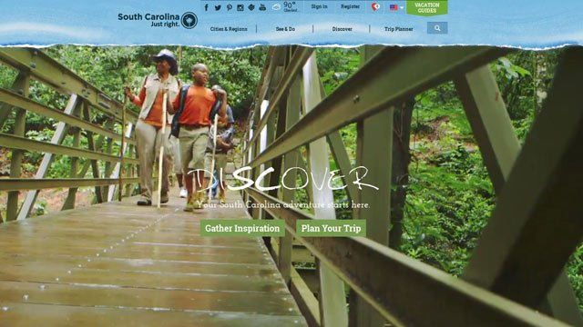 The site is one of the main ways that the department draws travelers to South Carolina, where tourism is an $18 billion a year industry. (discoversouthcarolina.com/)