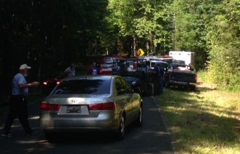 The search party assembles near Jones Gap State Park (FOX Carolina)