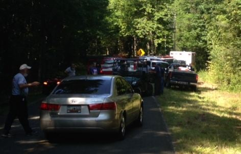 The search party assembles near Jones Gap State Park (FOX Carolina)