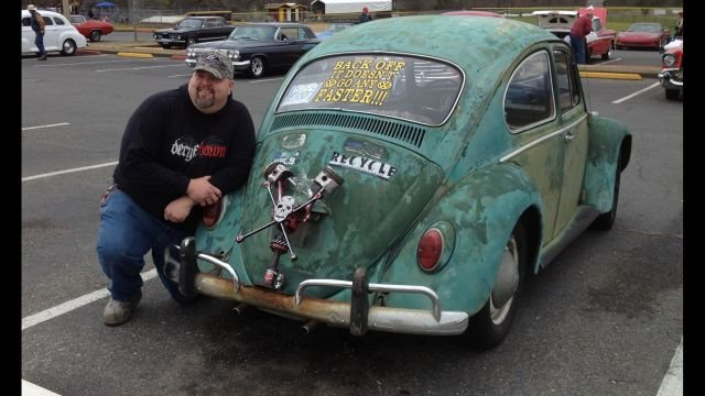 Hicks and his VW Bug (Courtesy: Facebook)
