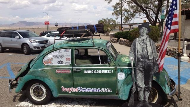 Hicks' VW Bug in New Mexico (Courtesy: Facebook)