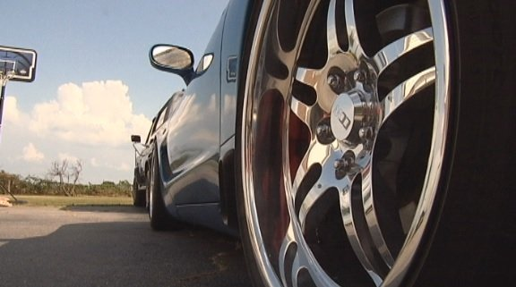 Rims for this 1999 Chevy Corvette were stolen from a Piedmont man's garage (FOX Carolina)