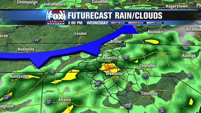Rain chances go up Wednesday