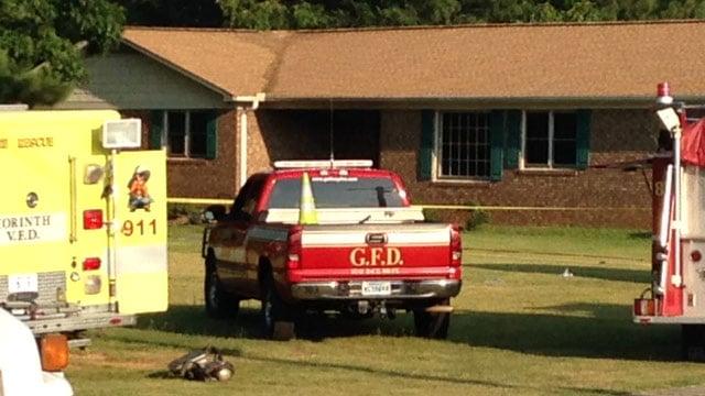 Firefighters on scene of the Gaffney fire. (July 8, 2014/FOX Carolina)