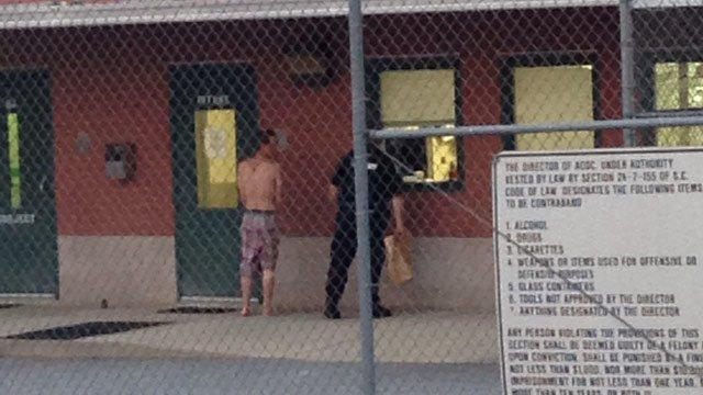 Kyle Hand is brought into the Anderson Co. Jail. (July 9, 2014/FOX Carolina)