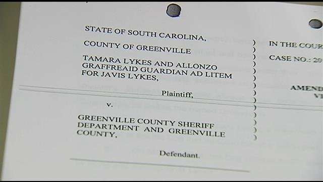 A copy of the lawsuit filed after the dog bite. (July 8, 2014/FOX Carolina)