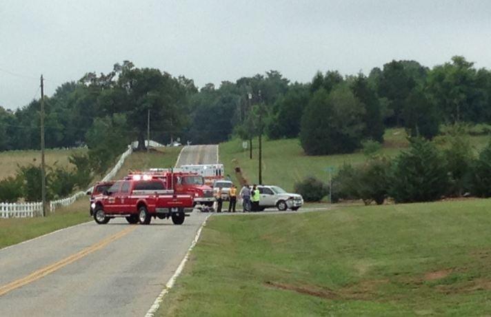 Crash scene on Gano Drive (FOX Carolina)