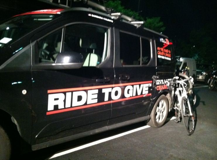 Ride to Give support van (FOX Carolina).
