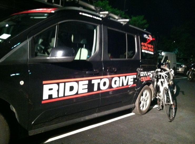 Ride to Give support van (FOX Carolina).
