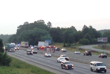 Crash on I-85 slows traffic (FOX Carolina)