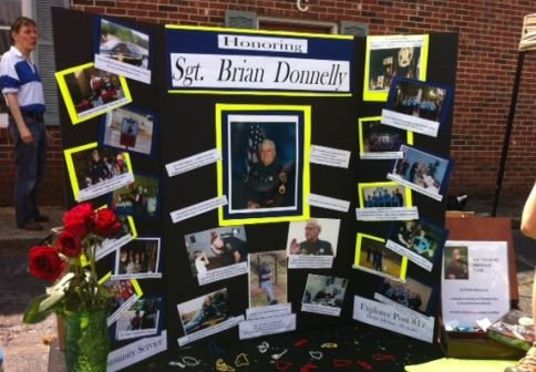 Memorial display at safety event (FOX Carolina)