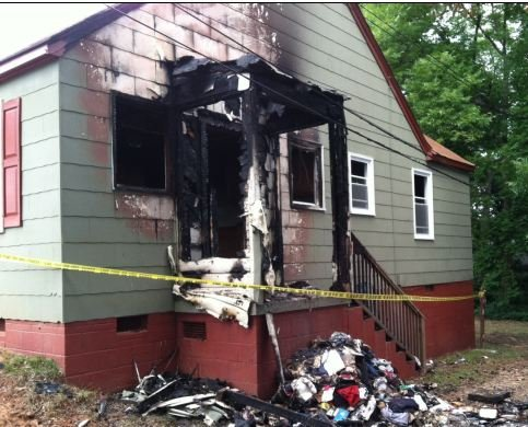 Arson investigation at home on S. Church St. (FOX Carolina)