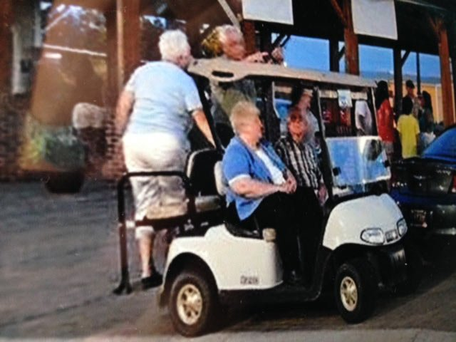 A photos of Patterson and the other victims on the golf cart, taken the night of the crash. (Source: Patterson's family)
