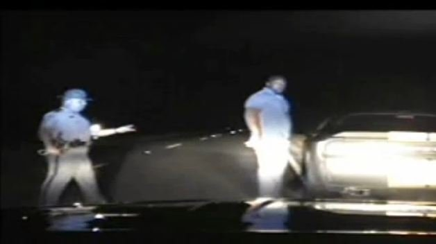 Dashcam video showed Montgomery arrested.