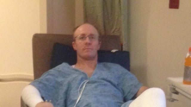 Patrick Schultz recovering at burn center.  (Courtesy: Schultz family)