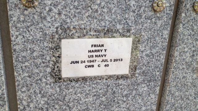 Harry Friar now rests at Dolly Cooper Veterans' Cemetery in Anderson County. (July 15, 2014/FOX Carolina)