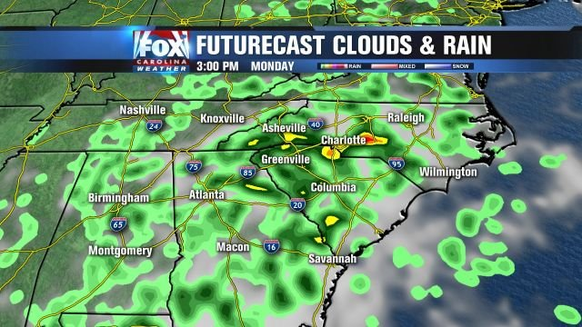 Futurecast for Monday afternoon