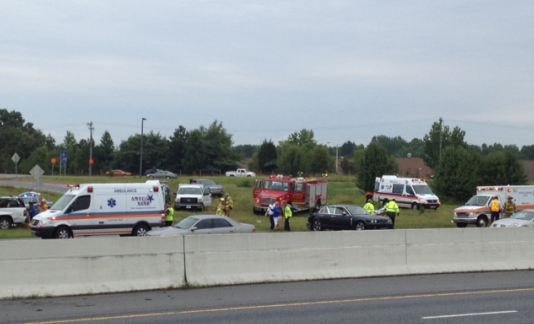 I-85 crash at MM 92 (FOX Carolina)