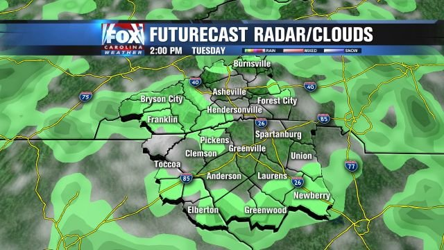 More scattered showers for Tuesday