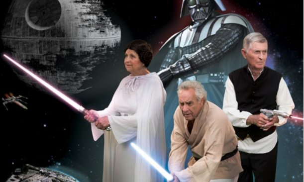 Seniors from Summit Hills in Spartanburg re-enact a scene from 'Star Wars.' (Source: Summit Hills)