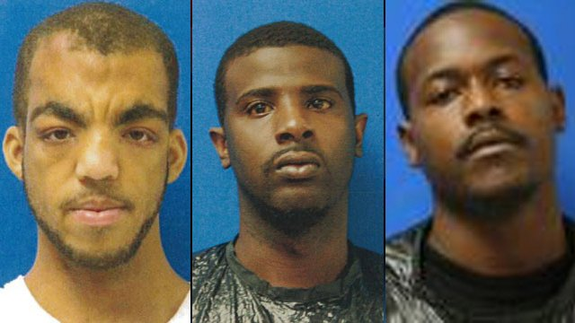 Left to right: Antron Bonner, Franklin Dover and Rajshun Foster. (Source: Cherokee Co. Sheriff's Office)