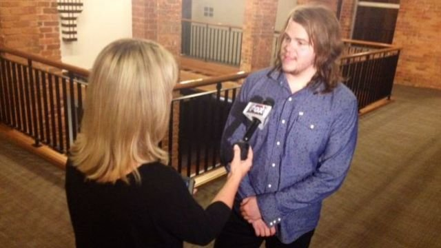 FOX Carolina's Diana Watson caught up with American Idol Season 13 Winner Caleb Johnson at Tuesday's live concert at the Peace Center. (July 22, 2014/FOX Carolina)
