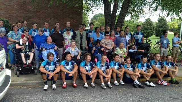 Journey of Hope's south team arrives in Spartanburg. (July 23, 2014/FOX Carolina)