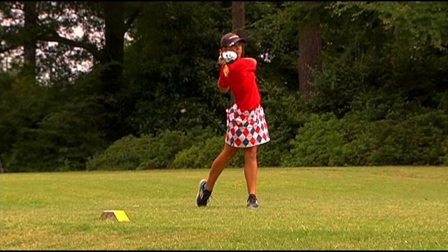 Golfer Jensen Castle hits the links. (File/FOX Carolina)