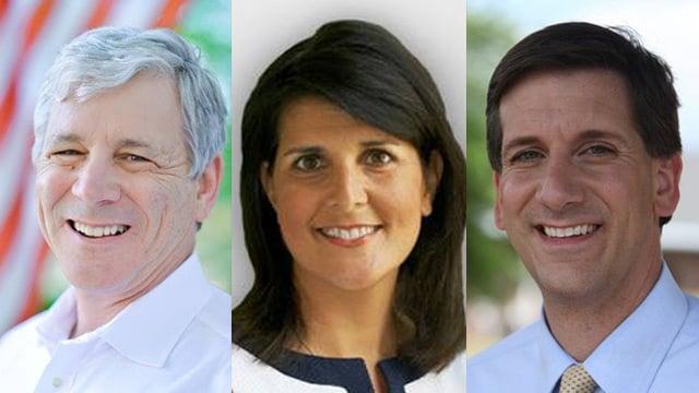 Left to Right: Tom Ervin, Nikki Haley & Vincent Sheheen (Source: Facebook)