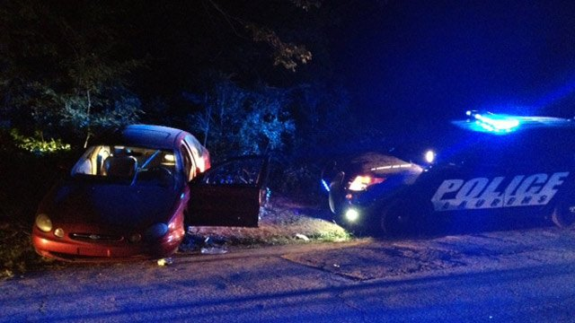 Laurens police and troopers respond to the crash. (July 25, 2014/FOX Carolina)