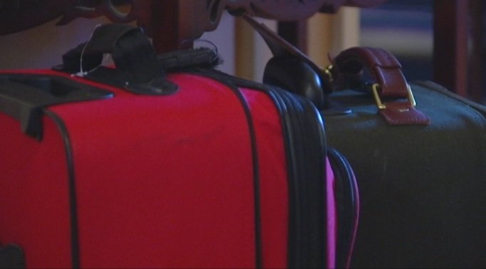 Some of the luggage not stolen before the Schemm's family vacation (FOX Carolina)