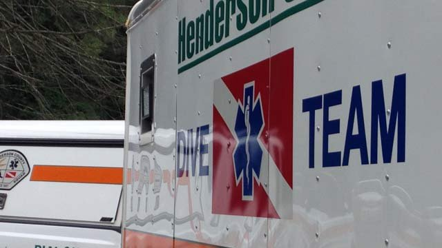 The dive team was dispatched from Henderson County to assist in the search. (July 31, 2014/FOX Carolina)