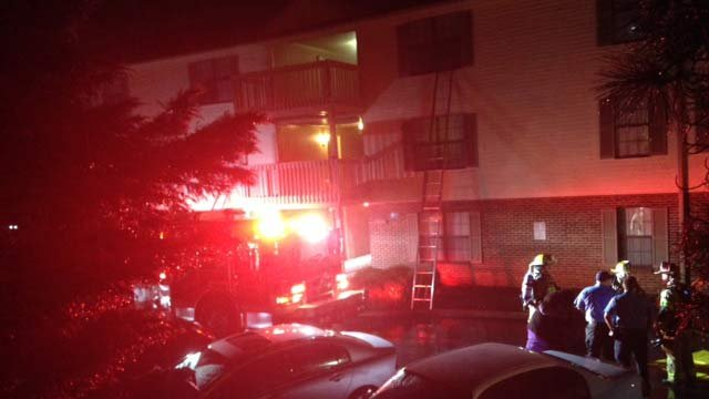 Firefighters responded to Campus Edge Apartments on Thursday night. (July 31, 2014/FOX Carolina)