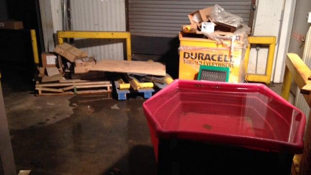roof rupture damages part of harvest hope food bank wbtv charlotte. Black Bedroom Furniture Sets. Home Design Ideas
