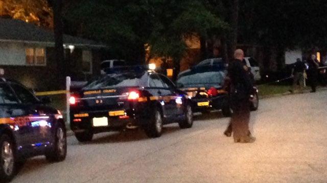 Deputies were at the scene of the shooting on Lora Lane. (Aug. 1, 2014/FOX Carolina)
