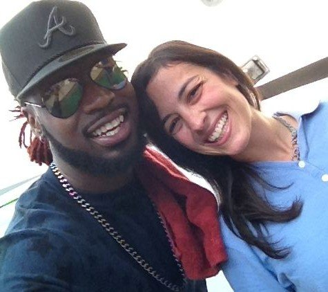 Dana Watcher's selfie with Delvin Choice (FOX Carolina)