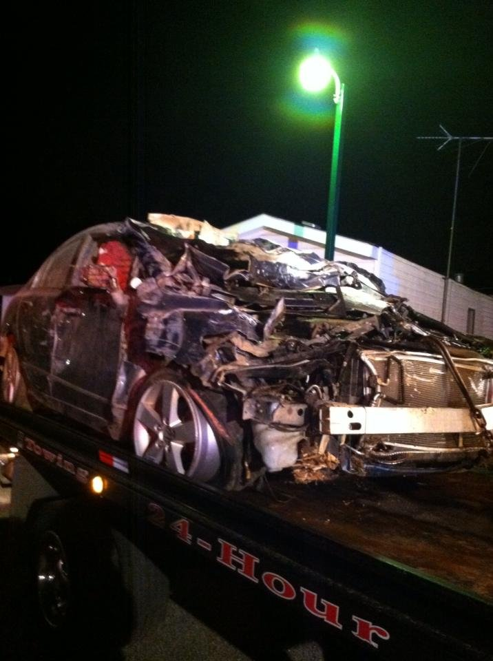 The suspect's mangled vehicle (Courtesy: Teddy Cobb)
