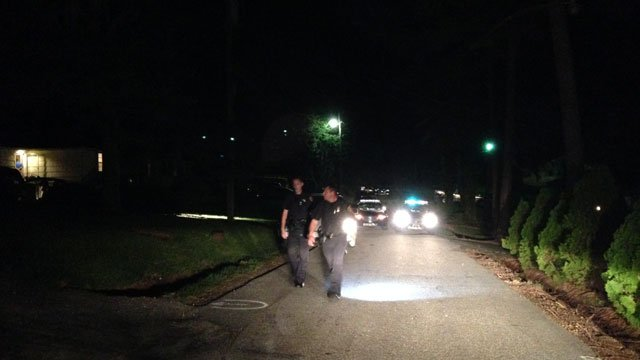 Deputies investigated the shooting on Woodmont Circle on Tuesday. (Aug. 5, 2014/FOX Carolina)