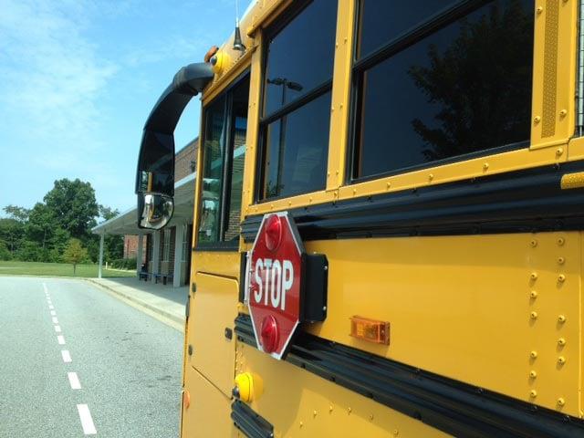 Cameras on a South Carolina school bus. (Aug. 7, 2014/FOX Carolina)