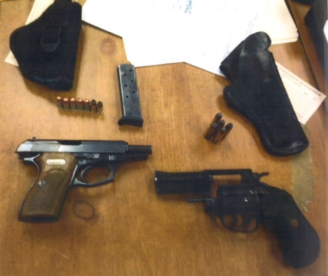 Deputies say they found these weapons at the chase scene. (Source: Pickens Co. Sheriff's Office)