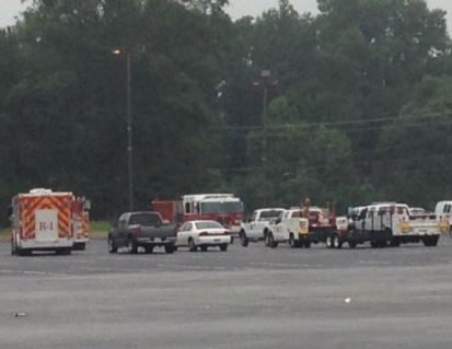 Staging area near search site (FOX Carolina)