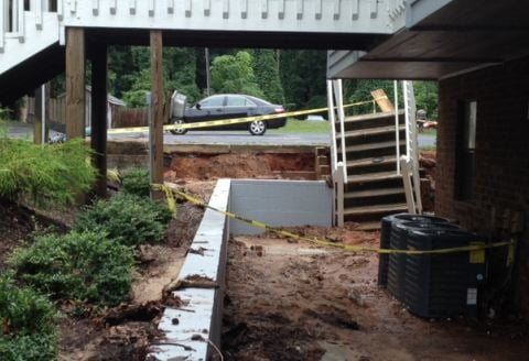 Damage at Villa Apartments (FOX Carolina)