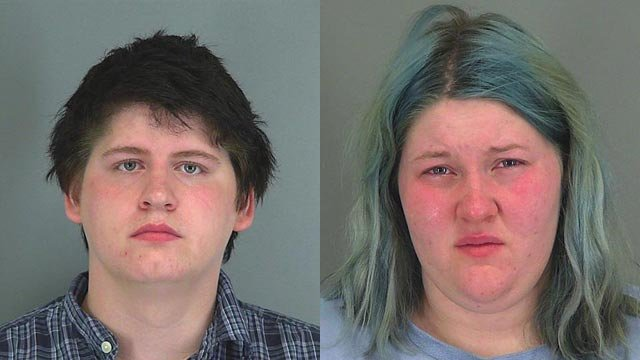 Raymond Headley and Alysha Childers (Source: Spartanburg Co. Detention Center)
